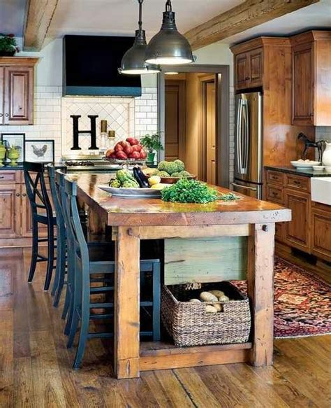 rustic kitchen islands with seating rustic island seating for the home pinterest