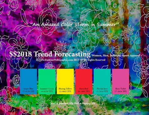 color forecast ss2018 trend forecasting on behance 2018 trends