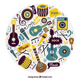 imagenes musicales retro instrumentos musicales fotos y vectores gratis