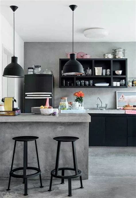 How To Bring An Industrial Vibe To Your Kitchen Decoholic Concrete In Kitchen