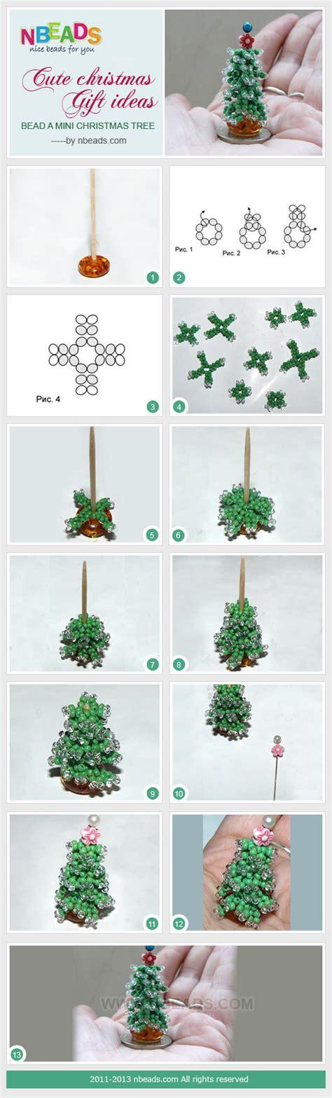 cute tree christmas pinterest cute christmas gift ideas bead a mini christmas tree