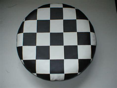 Vespa Union Wheel Shape Bag lambretta vespa black and white check design spare wheel cover p k trim