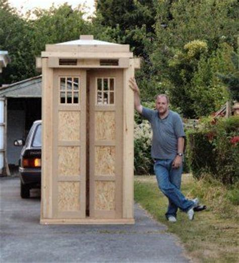 Tardis Garden Shed by How To Build Your Own Tardis Don T If I Could