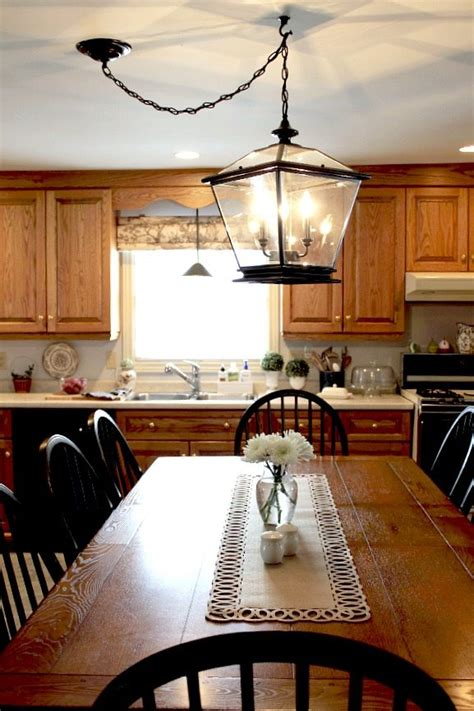 Farm Style Dining Room Table farmhouse lighting in the kitchen the creek line house