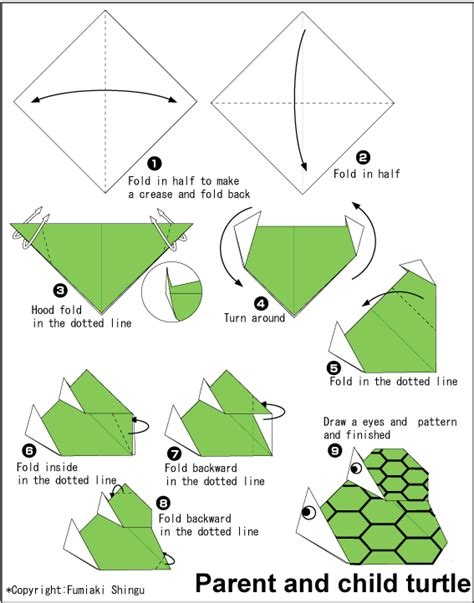 origami turtle diagram a geometria no origami lemin
