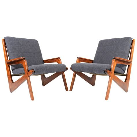 pair of german modern boomerang lounge chairs at 1stdibs