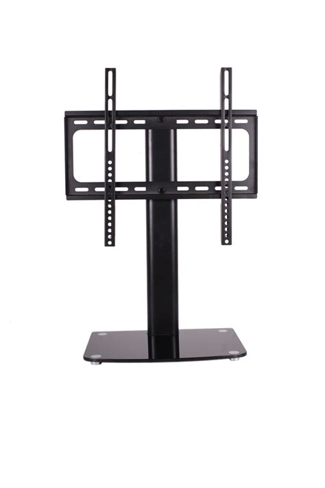 Pedestal Wall Shelf by Swiveling Tv Stand Pedestal Wall Mount For 32 To 50 Quot Tv Mount With Singe Glass Dvd Sky Box