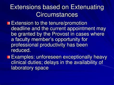extenuating circumstances ppt appointment terms and extensions powerpoint
