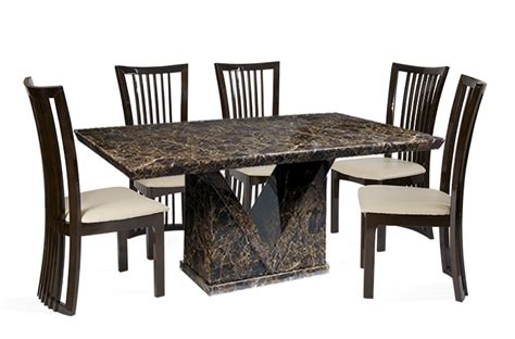 Marble Dining Table And 6 Chairs Marble Dining Set Archives Brown Furnishings