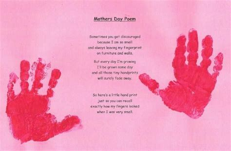 Mother's Day Poems   Mothers pampered by their little ones