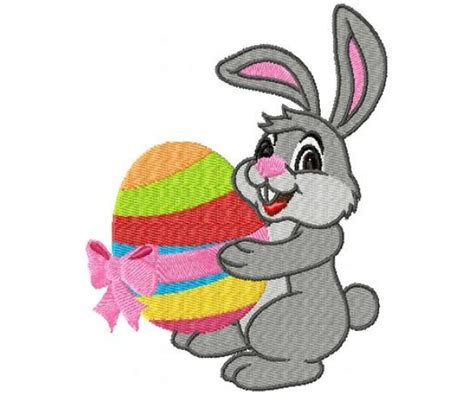 embroidery design rabbit easter rabbit machine embroidery design for instant download