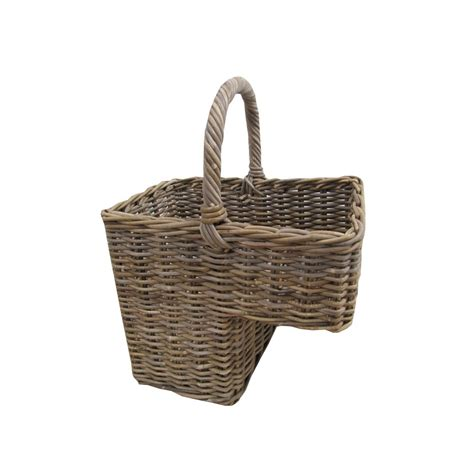 rattan baskets grey buff rattan stair basket