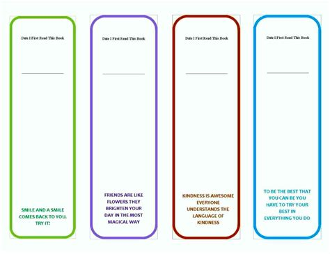 what template is this bookmark template template update234