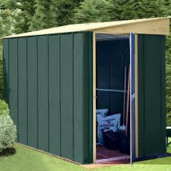 canberra 8x4 metal lean to shed greenhouse stores