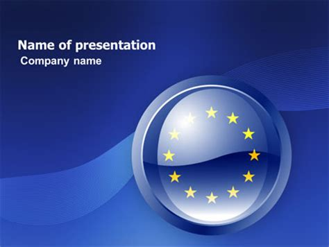european union sign presentation template for powerpoint