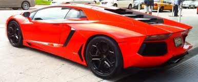 orange lamborghini aventador with black rims cars