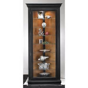 Curio Cabinet Black Finish Colortime Prism Corner Curio Cabinet Finish Pirate
