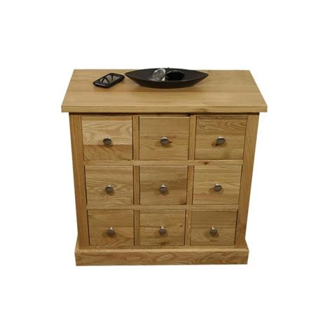 Drawer Unit With 9 Drawers by Glenmore Oak Compact 9 Drawer Storage Unit Click Oak