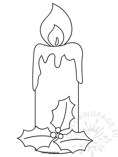 coloring page christmas candle christmas candle 2 coloring page