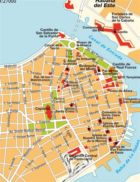 printable map havana map old havana cuba maps and directions at hot map