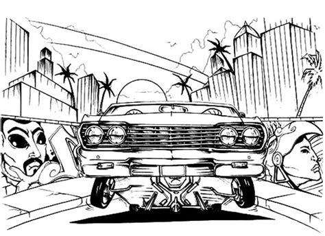 coloring pages of lowrider cars amazing lowrider truck coloring pages ideas exle