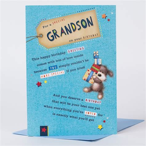 card grandson birthday card special grandson only 99p