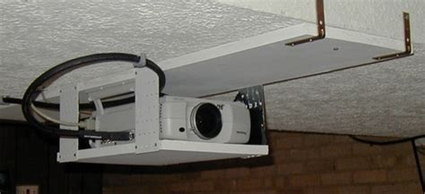 How To Hang L From Ceiling by Diy Screen Ceiling Mount For Panasonic Pt L711xu Avs