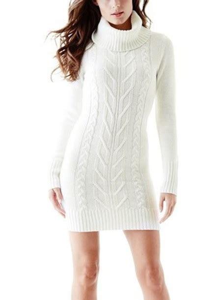 Knitted Turtleneck Dress dress sweater dress knitted dress sweater turtleneck