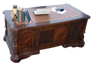 Executive Computer Desk Home Office Ornate Executive Computer Desk With Credenza Hutch And File Cabinet Ebay