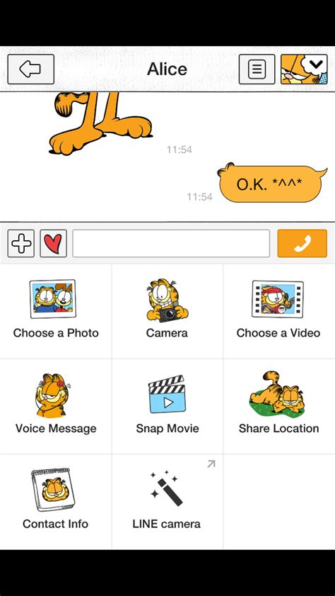 garfield theme line inwepo line theme garfield line theme garfield applefreeapps