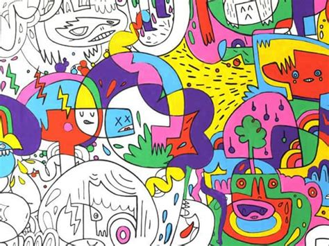 wallpaper you can color colour in wallpaper by artist burgerman