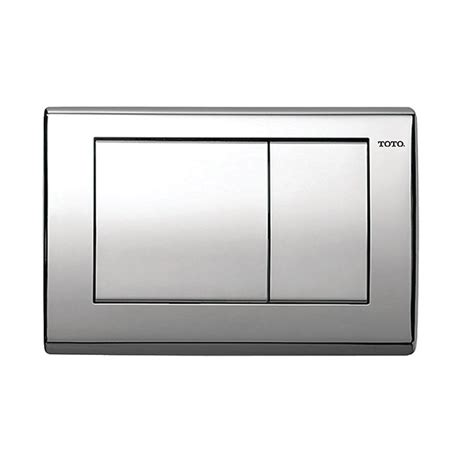 Push Kran Kuningan Model Toto toto in wall push plate for dual flush toilets in polished chrome yt820 cp the home depot