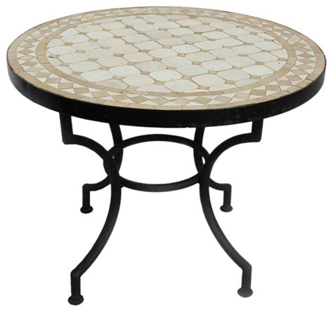 mosaic accent table round mosaic tile side table 24 quot traditional side