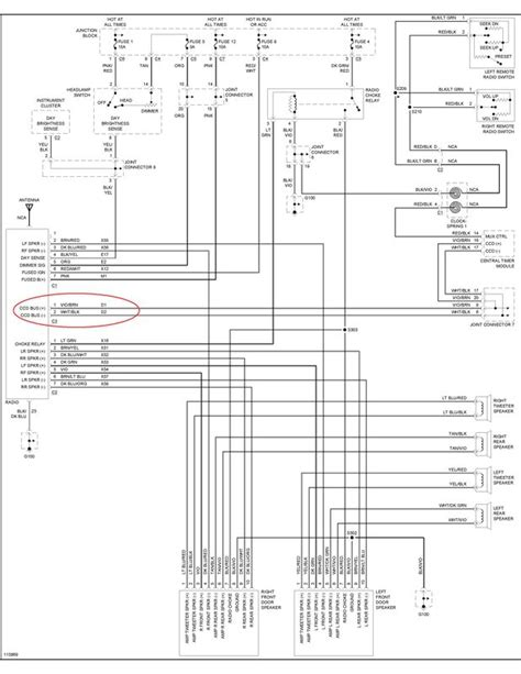 99 dodge ram radio wiring diagram wiring diagram with