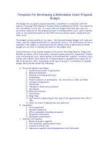 Budget For Grant Proposal Template Grant Proposal Template Affordablecarecat