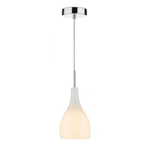 Single Pendant Lights Soho Single Opal White Glass Mini Pendant Light On Clear Cable