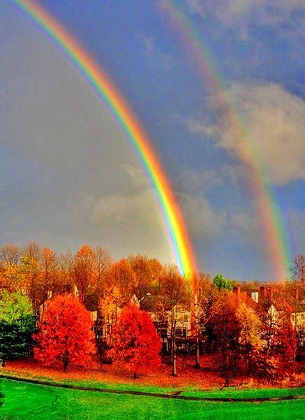 double rainbows stunning nature