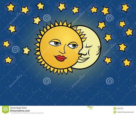 imagenes de sol y luna animadas sol de la luna ejemplo del vector ilustraci 243 n del vector