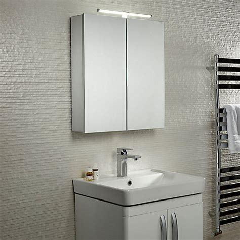 buy roper rhodes summit illuminated double bathroom cabinet with double sided mirror john lewis buy roper rhodes conduct illuminated double bathroom