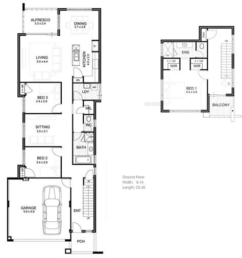townhouse plans narrow lot house plans for narrow lots narrow houseplans joy