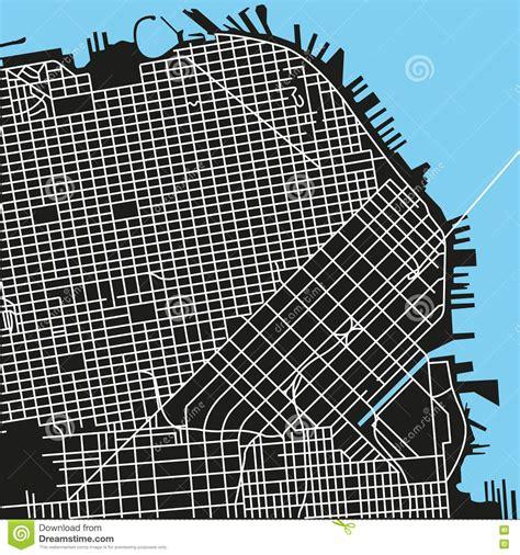 san francisco map vector free san francisco vector map stock vector image 74949993