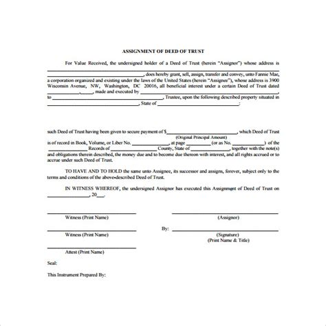 trust deed template deed of trust forms 8 documents free in pdf word
