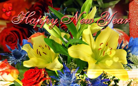 flower hd images with happy new year happy new year 2018 colorful hd wallpapers 9to5animations
