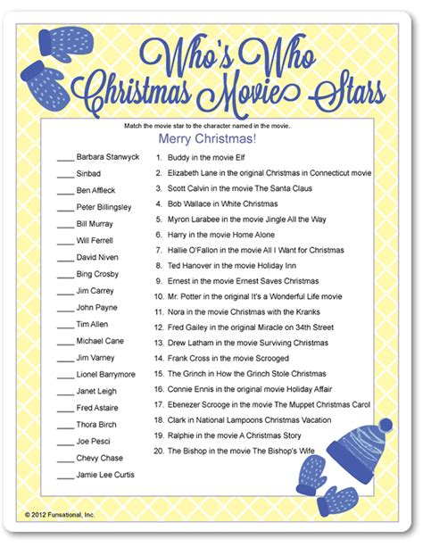 printable christmas film quiz fun christmas party game movie stars movie and star