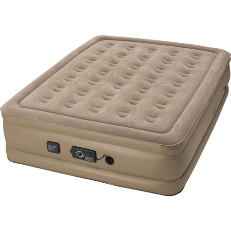 insta bed raised queen air bed with neverflat ac pump