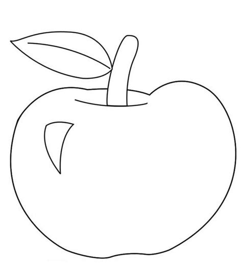 apple coloring page for preschoolers apple coloring pages to print