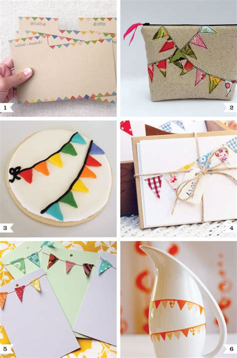 dyi projects bunting themed diy projects chickabug