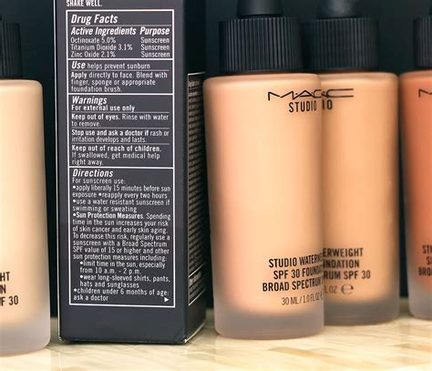 Mac Studio Waterweight mac studio waterweight spf 30 foundation makeup and