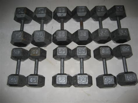70 pound dumbbell bench press weights
