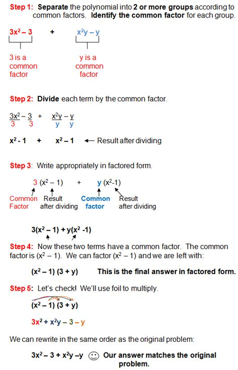 factoring using the distributive property worksheet answers factoring in algebra polynomials